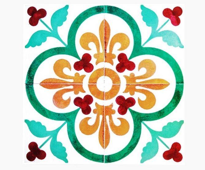 Decolfa Tile Sticker (Green) For DIY Decorate Home Design Art Kitchen Room Sink