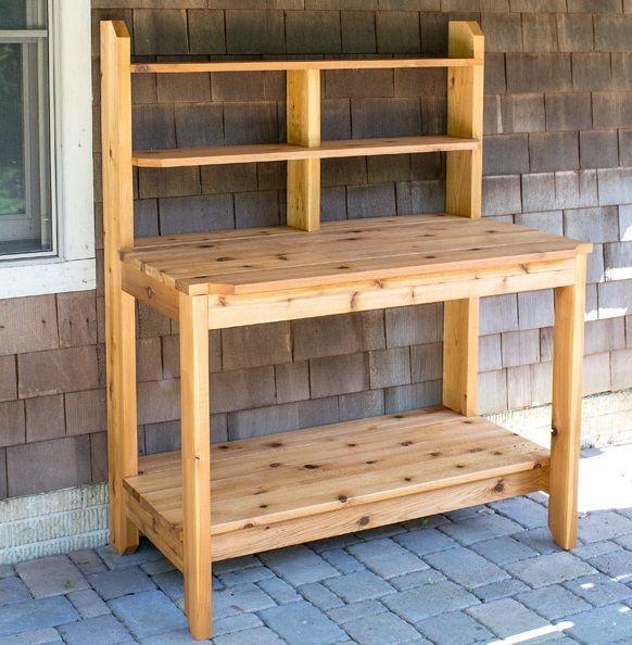 Wie Man Eine Potting Bench Free Plan Baut Potting Bench Plans Potting Bench Outdoor Potting Bench