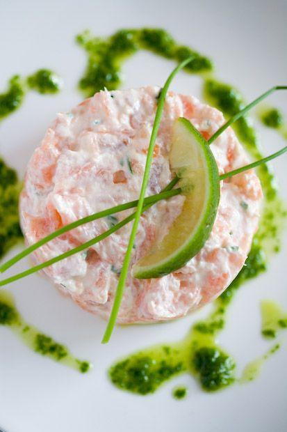 Zalmtartaar met rucola pesto - grappig recept uit Libelle