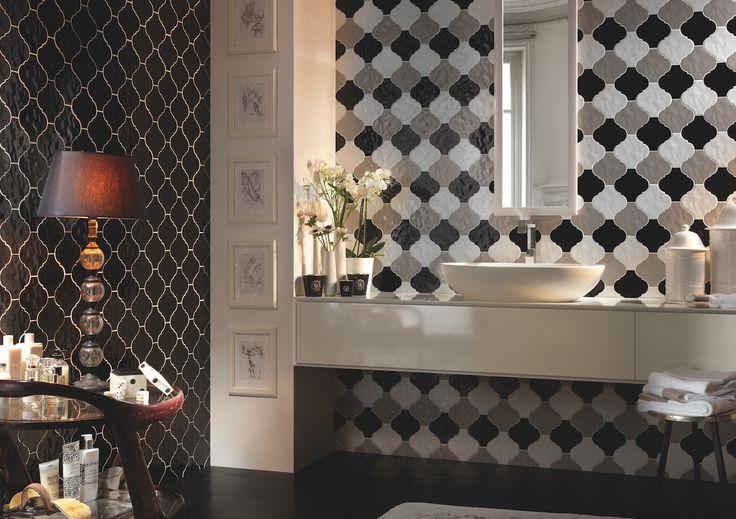 Arabesque by Tonalite is a classic look with vintage-inspiration for homes. #Cersaie2015