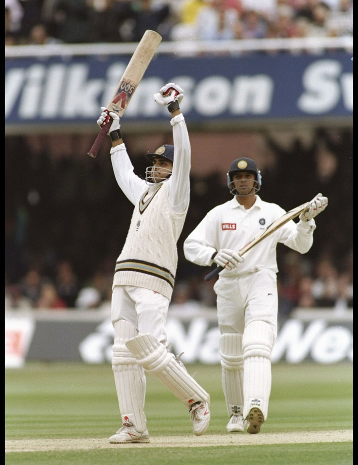 On this day (June 22) in 1996, Sourav Ganguly made a century on debut at Lord's. Another first-timer, Rahul Dravid, didn't do too badly either and made a polished 95. Earlier, Jack Russell, made his second Test hundred - and the first by an England wicketkeeper at Lord's for 44 years. (Three Tests later he was dropped.) Extra: This high scoring game was also Dickie Bird's last.
