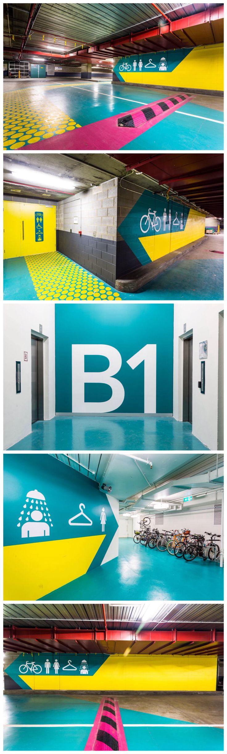 Wayfinding & Environmental graphics for Casselden basement carpark. Anothermattryan for Graypuksand AMR2013 Photography Mark Duffus @ MD PhotoG