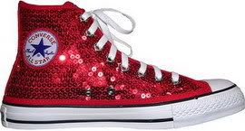 red sneakers with glitter | Nike Sequin High Tops Shoes Adidas Converse | Nike Sb Dunk Skate Shoes