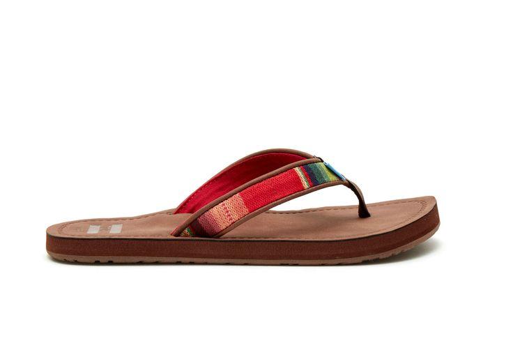 undefined Brown Multi Textile Women's Solana Flip-Flops