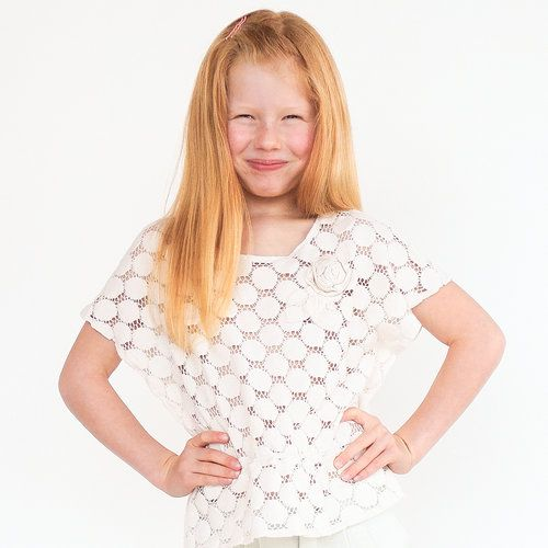 Milkweed top sewing pattern for kids. Easy girls pdf pattern made with cotton lace fabric.