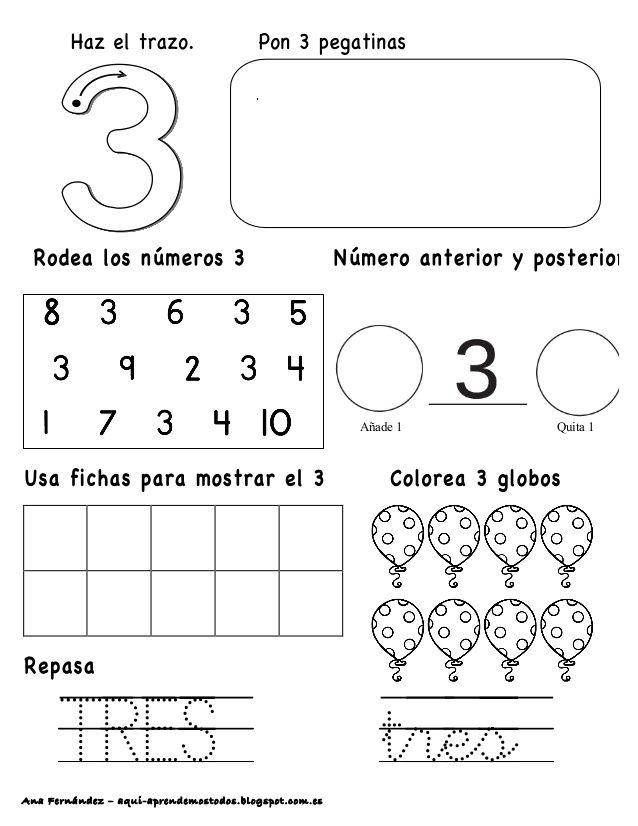Ana Fernández – aqui-aprendemostodos.blogspot.com.es . TRES tres Añade 1 Quita 1