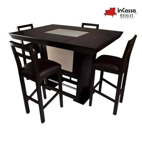 Antecomedor minimalista mod atlanta incluye mesa alta y for Mesa alta comedor