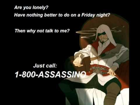 Just call 01 800 Assassino ( Roger Craig Smith voice of Ezio) full - YouTube HILARIOUS INTERVIEW WITH ROGER CRAIG SMITH