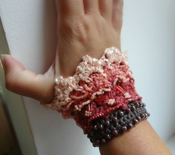#Crochet cuff pattern for sale from Little Treasures