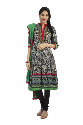 Biba Churidar Kurta Dupatta Set | Shoppers Stop