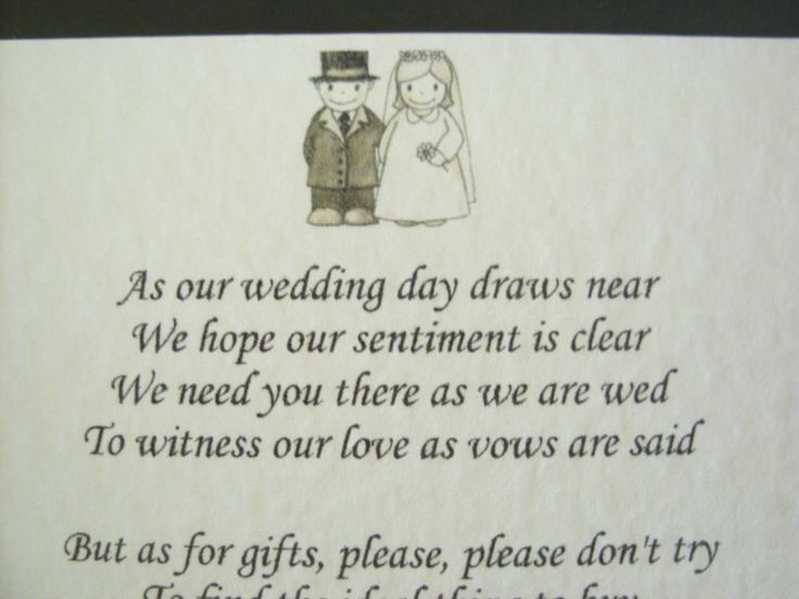 No Wedding Gift List Poem : No 4 eBay: Wedding Money Poems, Money Gifts, Wedding Ideas, Wedding ...