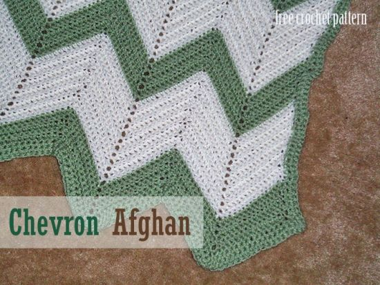 Free Crochet Pattern Chevron Afghan Page 2 New