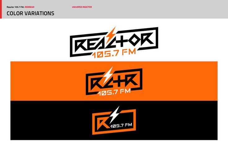El nuevo diseño de marca para Reactor 105.7 FM