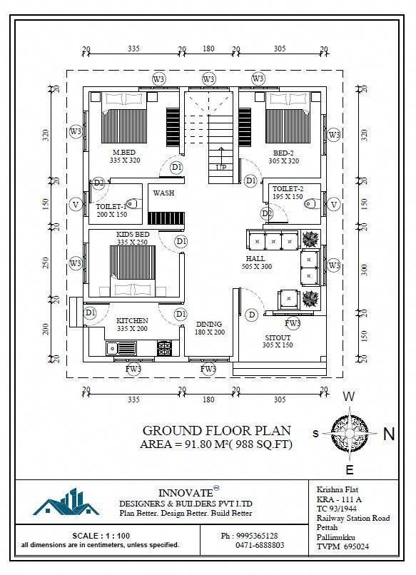 Latest Low Cost 1073 Sqft Kerala House Design And Free Plan Budget 3 Bedroom Kerala Home Plans Free Lovei Budget House Plans New House Plans 2bhk House Plan