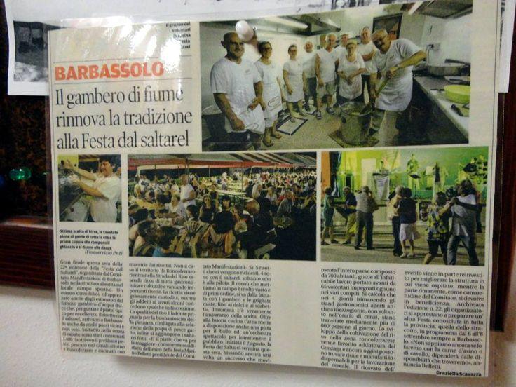 Barbassolo Roncoferraro MN Lombardia Italia  Festa del Saltarel  gambero di fiume