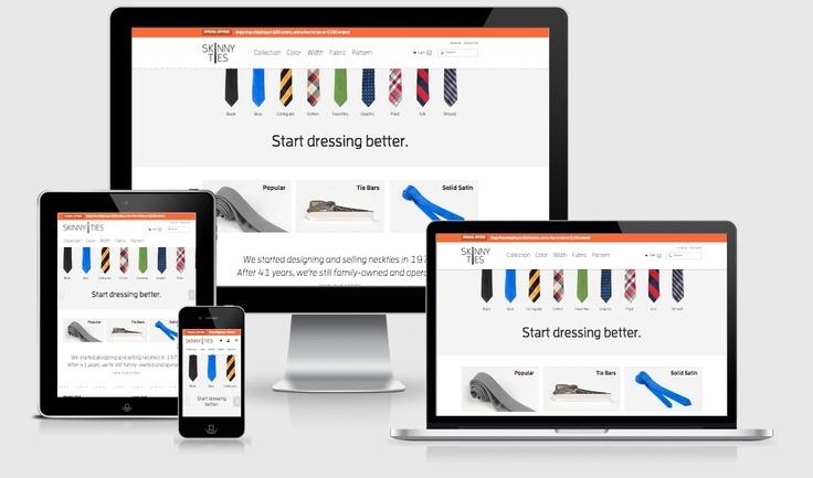 responsive webdesign skinny ties