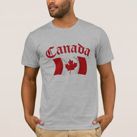 Canadian Flag T-Shirt - click/tap to personalize and buy