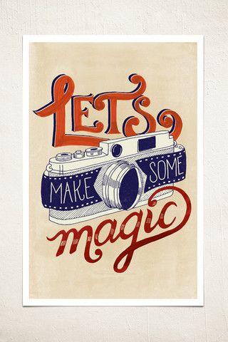 Make Magic Vintage Camera Wall Print