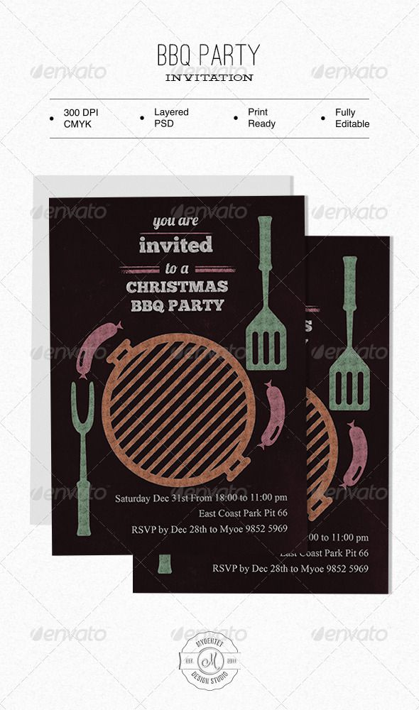 BBQ Party Invitation 752 best Invitation Card