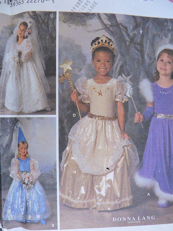 Bride Fairy Princess Dress Up Donna Lang Designs Simplcity