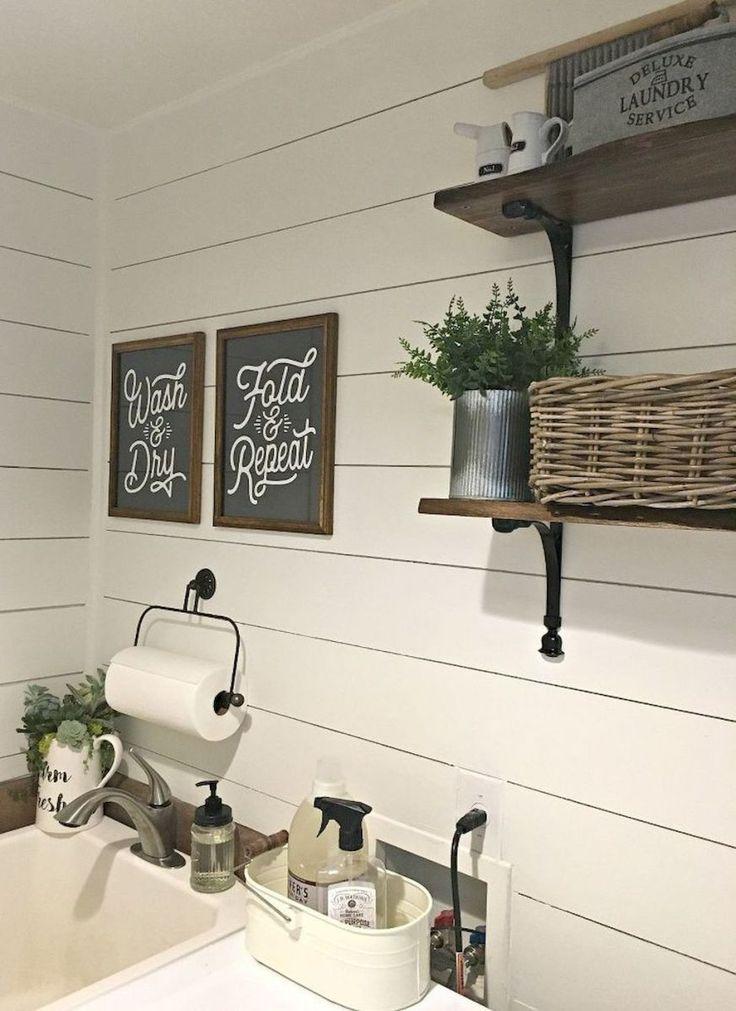Modern Farmhouse Laundry Room Ideas (22)