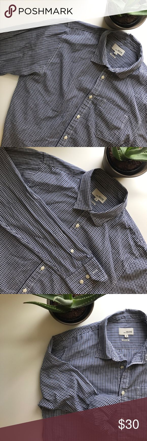 blue striped casual shirt blue navy and white striped casual shirt by jack spade                men's medium Jack Spade Shirts Casual Button Down Shirts
