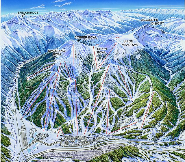 copper mountain colorado | Mountain Colorado Illustration by James Niehues - Copper Mountain, CO ...