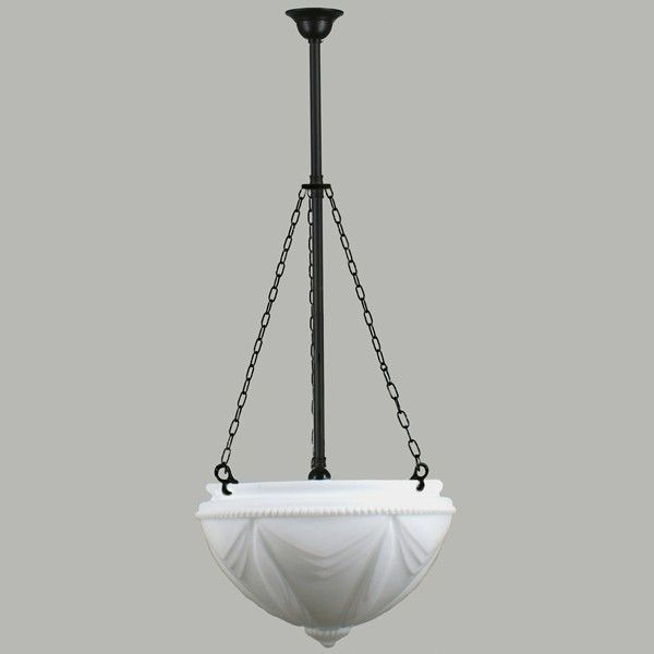 Black Art Deco Empire 3 Chain Rod Pendants Suspensions Lode Lighting Period Lights Traditional Pendant Lighting Pendant Light Lights