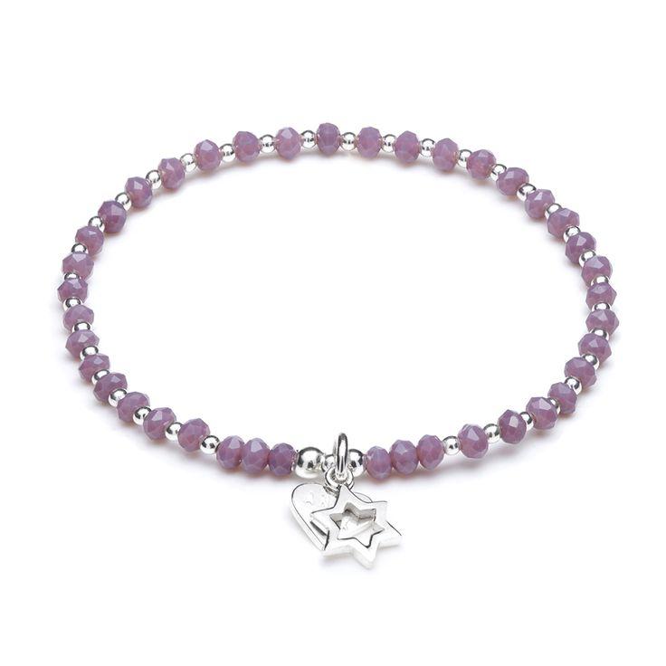 ANNIE HAAK Crystal Heart Silver Stud Earrings, Elegant Crystal Stud Jewellery, Made in 925 Sterling Silver