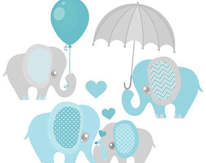 Bebé niño elefante Clipart, lindo elefante Clip Art imágenes