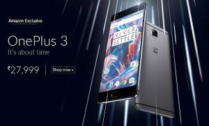 OnePlus 3 priced in India at Rs 27,999, to be Amazon exclusive