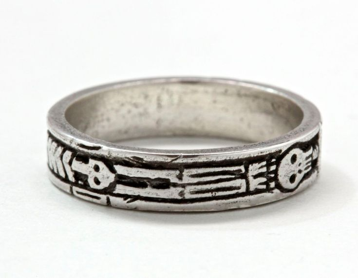 Georgian Skeleton Ring .925 Silver with personalized engraving Memento Mori Jewelry Blue Bayer Design NYC by billyblue22 on Etsy