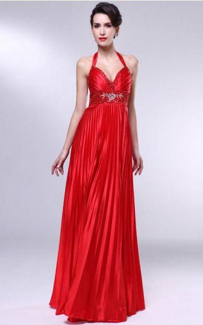 Satin Halter Natural A-line Floor-length Bridesmaid Dresses 0190431