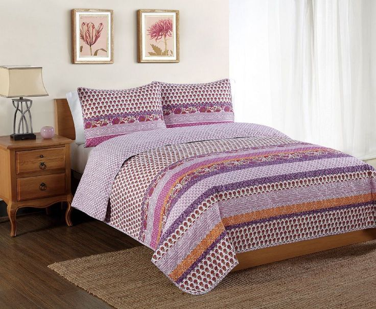 Spice Scroll Bands Quilt Sets by Seventeen Essentials