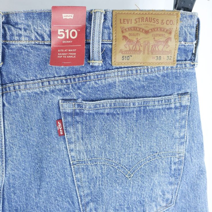 Mens Levis 510 Blue Jeans Skinny Stretch Fit  38x32 Actual 38x32 NEW with Tags | Clothing, Shoes & Accessories, Men's Clothing, Jeans | eBay!