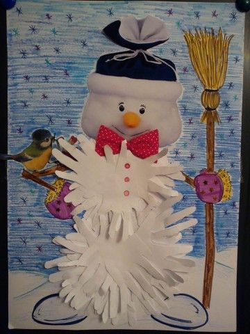 Вот такой снеговичок-добрячок появился у нас к Новому Году