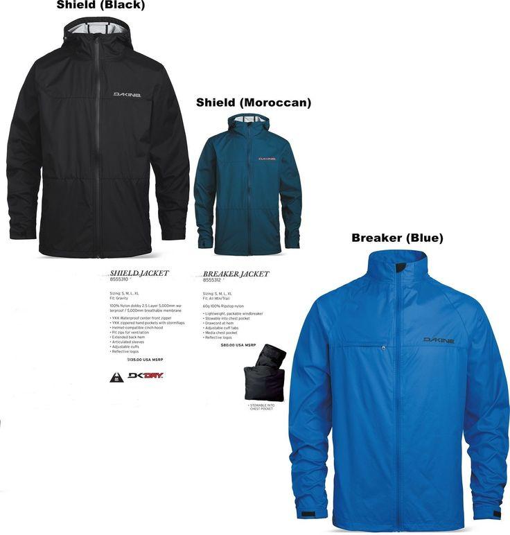 NEW Dakine Breaker Shield Mens M,L,XL Mountain Bike Cycling Jacket Shell Ret$130