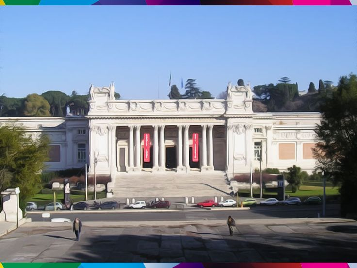 ROME - NATIONAL GALLERY OF MODERN ART. Overview of Italian painting from the 1800s and 1900s.  #Rome #Lazio #Italy #art #modern #artgallery