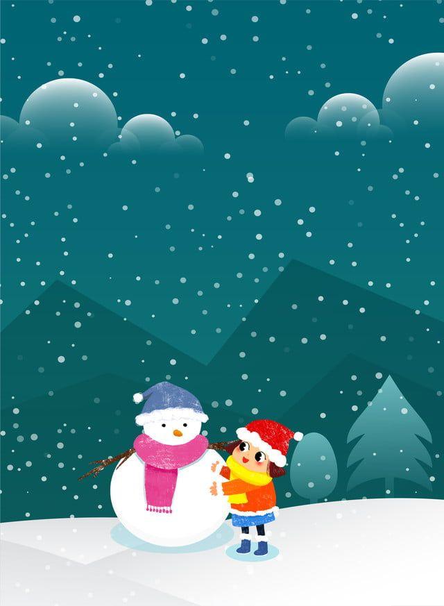 Fondo De Nieve De Invierno Literario Fresco Dibujos Animados Fresco Literario Nieve Invierno Invierno Invierno Frio Escena In 2021 Cartoon Art Snow