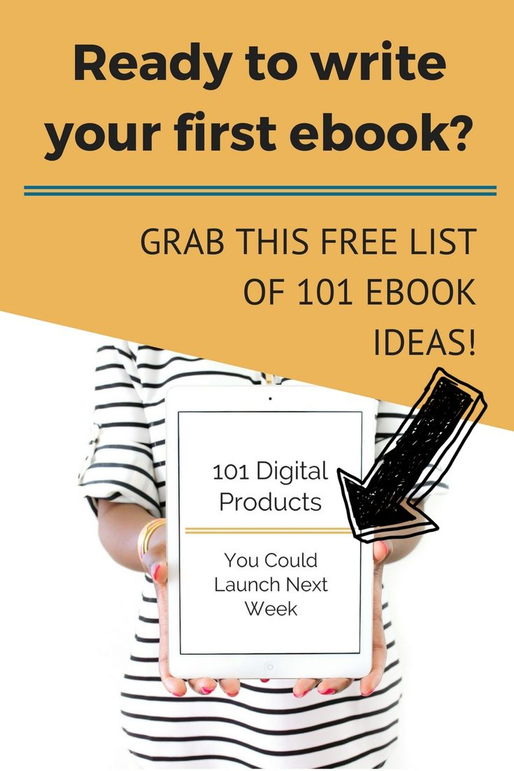 This FREE list of 101 ebook ideas for bloggers will help you come up with a profitable idea so you can finally make money blogging. #successfulblogging