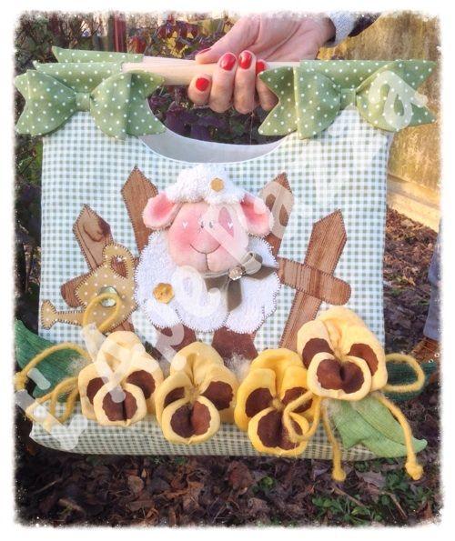 Cartamodelli papere e pecore primavera 2014 : Cartamodello portatorte pecora e panse'