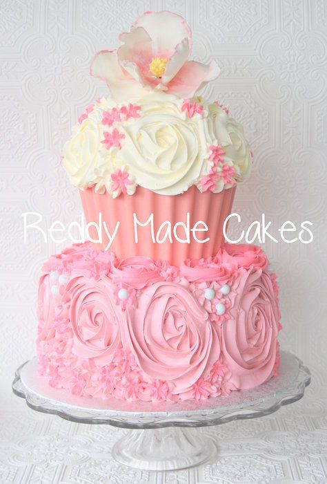 17 Best Ideas About Giant Cupcake Cakes On Pinterest
