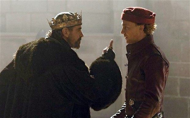 This is a photo from a show on BBC in the UK called The Hollow Crown: Henry IV: Part 1. This shot shows King Henry IV talking to his son Prince Harry, they were played by the actors: Jeremy Irons and Tom Hiddleston. The show aired in July 2012, and was made into 4 parts. The Hollow Crown was making shows on Shakespeare's plays and this was one of them. Photo by: Ed Cumming. Post by: Fayz Abu-Hajar