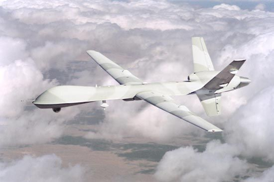 Predator B is powered by a turboprop engine and can carry a greatly increased payload. - Image - Naval Technology