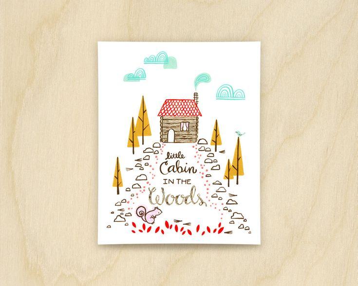 Little Cabin Print by cassieloizeaux on Etsy