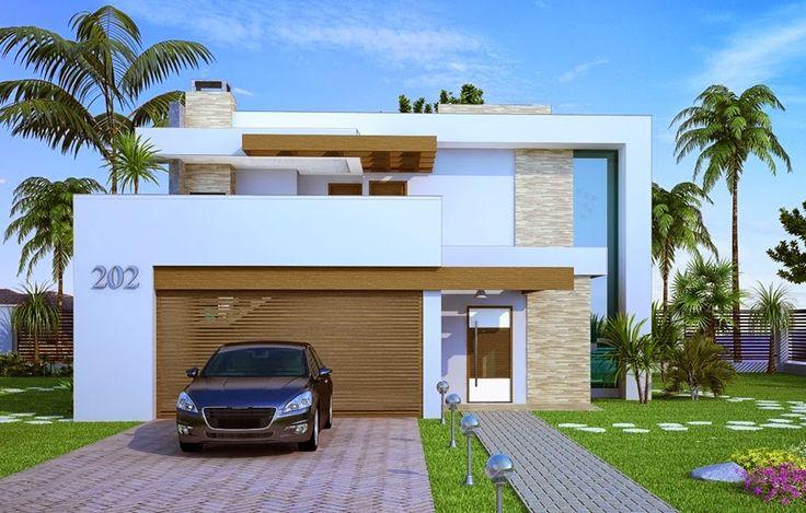 Fachadas de casas de sobrados – veja 50 modelos lindos! - Decor Salteado - Blog de Decoração, Arquitetura e Construção