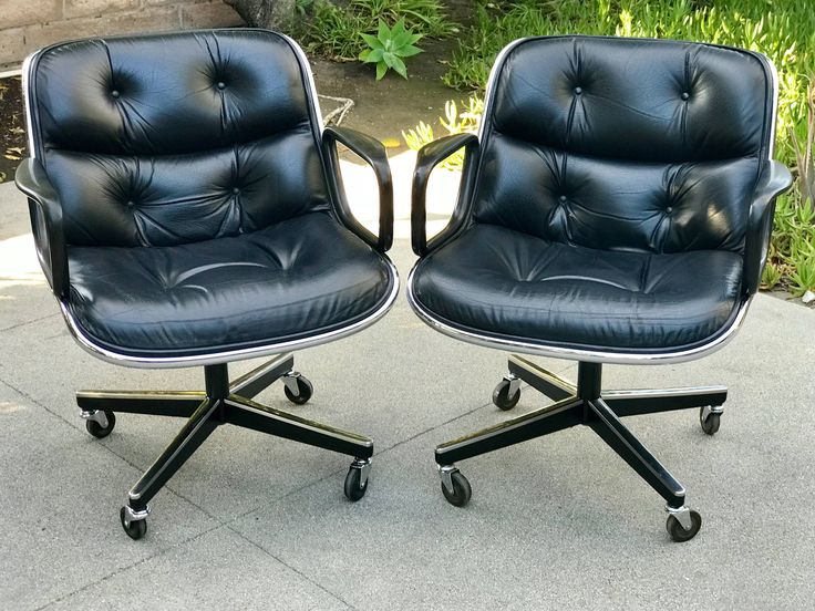 Charles Pollock for Knoll Leather Executive Office Chairs by TheVintageTheory on Etsy https://www.etsy.com/listing/577625673/charles-pollock-for-knoll-leather