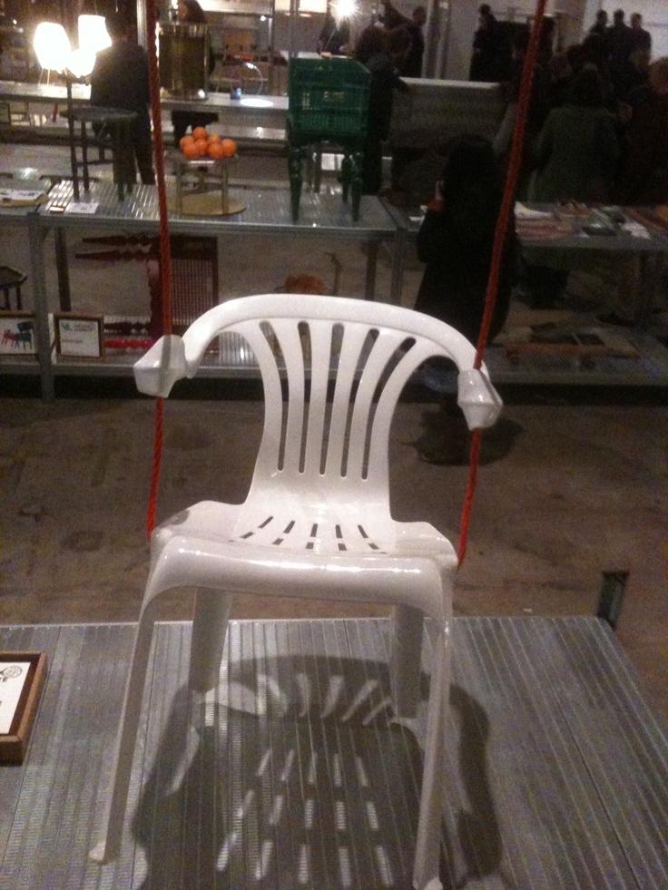 Fun chair in open field