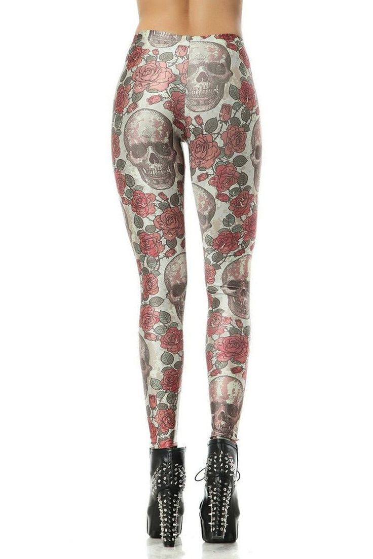 fun and edgy skull leggings, great for the gym or dress up and wear out!
