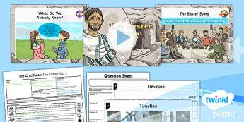 PlanIt - RE Year 6 - Free Will and Determinism-The Crucifixion Lesson 1: The Easter Story Lesson Pack - Easter, crucifixion, free will, determinism, choice